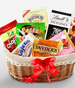 Sweets Gift Basket-Chocolate,Gourmet,Basket,Hamper
