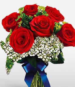 Cleopatra Red Roses-Red,Rose,Bouquet