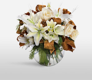 Golden Celebration-White,Rose,Arrangement