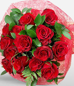 Dazzling Love-Red,Rose,Bouquet