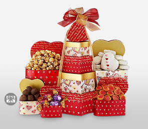 Tower of Hearts-Chocolate,Hamper
