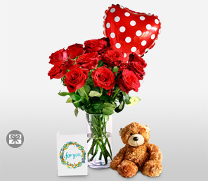 Love and Romance <font color=red>Free Cuddly Bear and Balloon</font>
