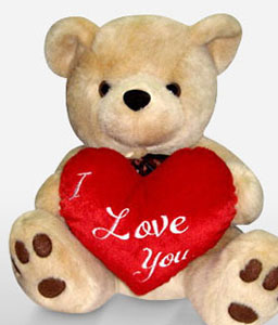 Brownie Bear With I Love You Heart-Teddy,Soft Toys