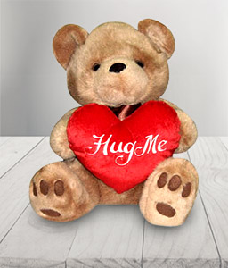 Brownie Bear With Hug Me Heart-Teddy,Soft Toys