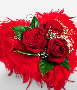 Heart Filled With Love-Red,Rose,Bouquet