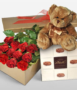 Love Of Life-Red,Chocolate,Rose,Soft Toys