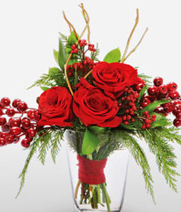 Romance Roses-Red,Rose,Arrangement