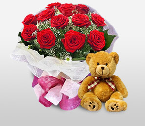 Sweet Sensation-Red,Rose,Bouquet,Soft Toys