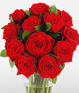 Dozen Red Rose Gift Wrap-Red,Rose,Bouquet