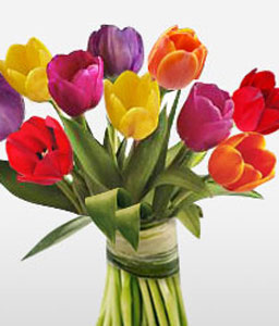 Temptation-Mixed,Tulip,Bouquet