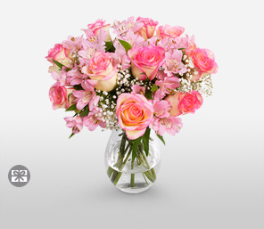 Ballerina Pinks-Pink,Rose,Bouquet