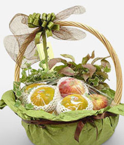 Tropical Fruit Basket-Fruit,Gourmet,Basket,Hamper