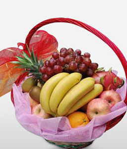 Classic Fruit Basket-Fruit,Gourmet,Basket,Hamper