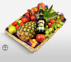 Savory Seasonal Fruit Basket-Mixed,Fruit,Basket,Whisky