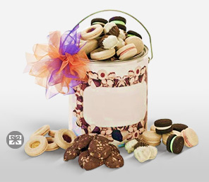 The Cookie Jar-White,Chocolate,Basket