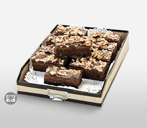 Enticing Chocolate Fudge With Pecan Nuts - 10 Slices-Chocolate,Cakes