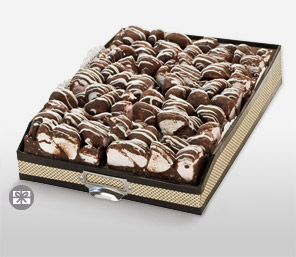 Delicious Rocky Road Slices - 10 Slices-Chocolate,Sweets,Gifts