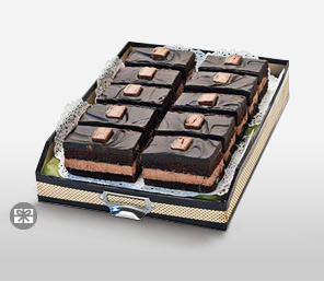 Scrumptious Tim Tams - 10 Slices-Chocolate,Arrangement,Cakes