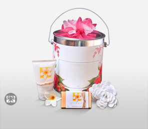 Fragrant Frangipani Tin-White,Hamper,Gifts