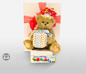 Bobby The Birthday Bear-Chocolate,Teddy,Soft Toys,Gifts