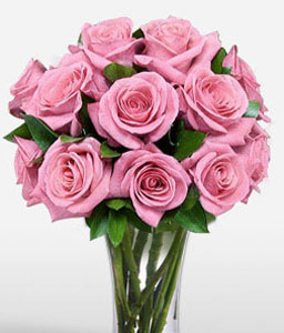 Goddess 12 Pink Roses-Pink,Rose,Arrangement,Bouquet