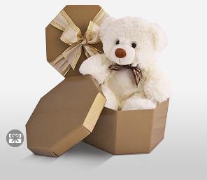 Valentine's Day Plush Teddy Bear Hamilton in a Box