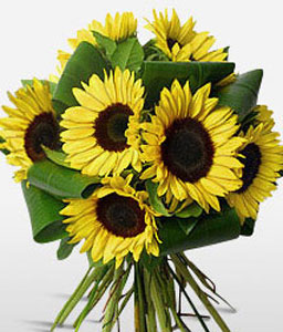 Sunflowers Bouquet-Yellow,SunFlower,Bouquet