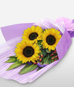 Golden Mile Sunflowers-Yellow,SunFlower,Bouquet