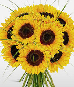 Sunshiny Days-Yellow,SunFlower,Bouquet