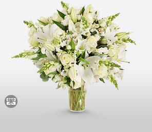 Serene-White,Lily,Rose,Bouquet