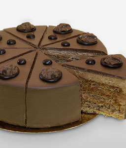 Enticing Hazelnut Cake 500 gms-Cakes,Sweets