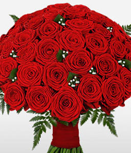 50 Red Roses-Red,Rose,Bouquet
