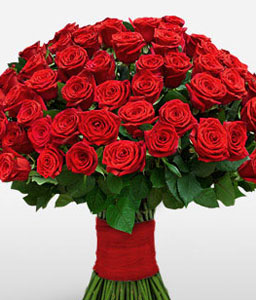 100 Red Rich Roses-Red,Rose,Bouquet