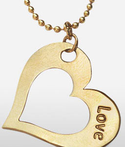 Gold Heart Pendent-Jewelry,Jewellery,Gifts