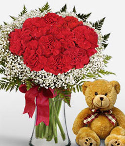 Sweetheart-Red,Teddy Bear,Arrangement