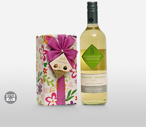 Wine With Gift Wrapped Chocolates-Chocolate,Wine,Hamper
