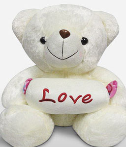 Love Bear-White,Teddy Bear,Soft Toys,Gifts