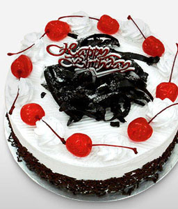 Black Forest Birthday Cake -21oz/600g-Cakes,Sweets,Gifts