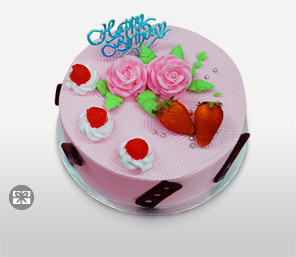 Strawberry Cake 600G-Pink,Cakes,Sweets,Gifts