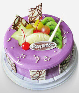 Cream Fruit Cake 8 Inches-Cakes,Sweets,Gifts