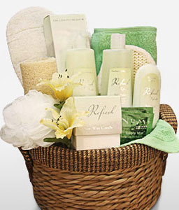 Refreshing Gift Basket-Spa,Hamper,Gifts