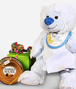 Blue Teddy Baby Boy-Chocolate,Gifts,Soft Toys