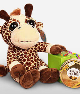 Giraffe-Chocolate,Gifts,Soft Toys