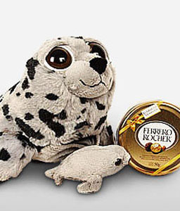 Mom Seal-Chocolate,Soft Toys,Gifts