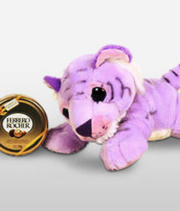 Purple Tiger-Chocolate,Soft Toys,Gifts