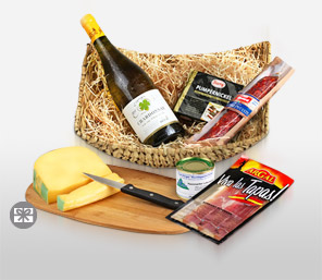 Delectable Hearty Hamper-Wine,Hamper
