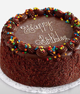 Chocolate Birthday Cake - 35oz/1kg-Cakes