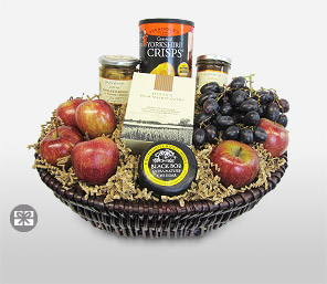 Seasons Greetings-Fruit,Gourmet,Basket
