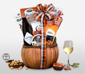 Happy Halloween Wine Basket-Chocolate,Hamper