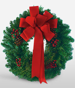 Holiday Wreath-Green,Wreath,Plant